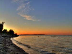 Sonnenuntergang am Meer in Dänemark