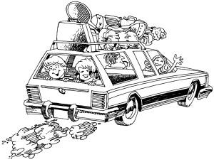 Vereisen mit Kindern im Auto
